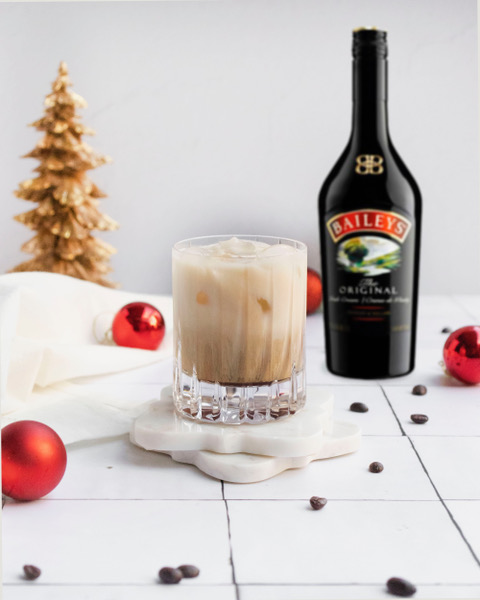 drinks with baileys like this white russian are perfect for the holidays