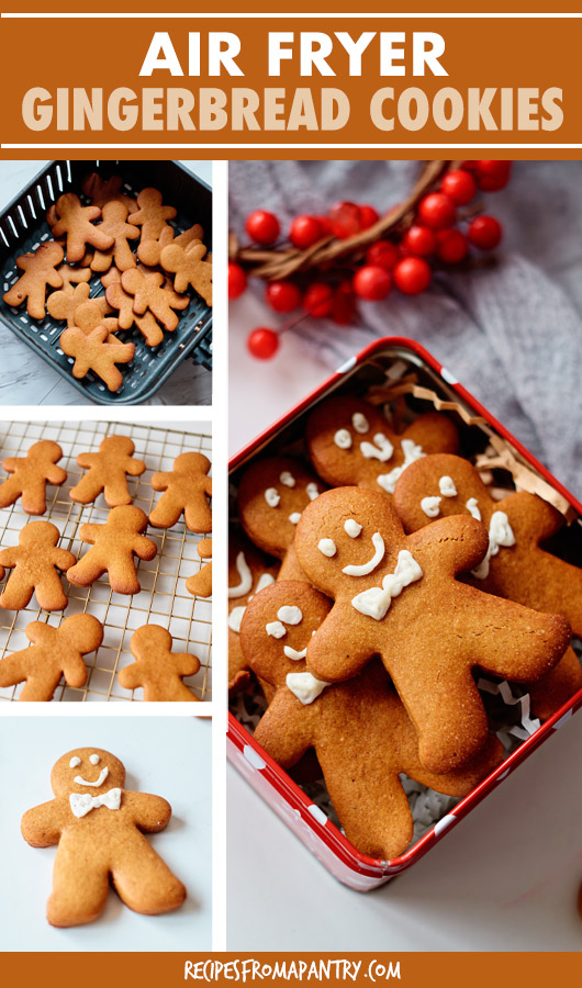 A collage of images of gingerbread man cookies