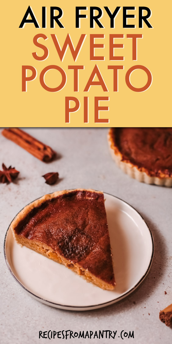 A SLICE OF PIE ON A WHITE PLATE