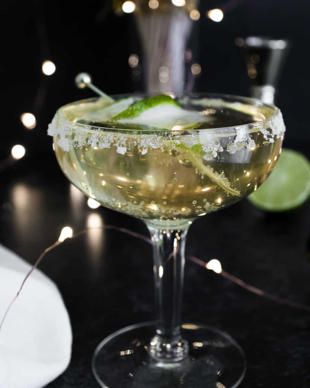 a champagne margarita cocktail ready to serve