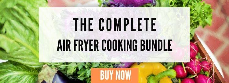 Graphic saying the complete air fryer cooking bundle