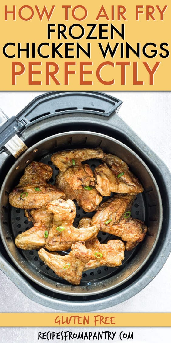 Cooked CHICKEN WINGS IN AN AIR FRYER