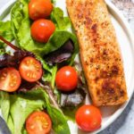 Easy Air Fryer Salmon + Video {Gluten-Free, Low Carb, Keto, Paleo, Whole 30}