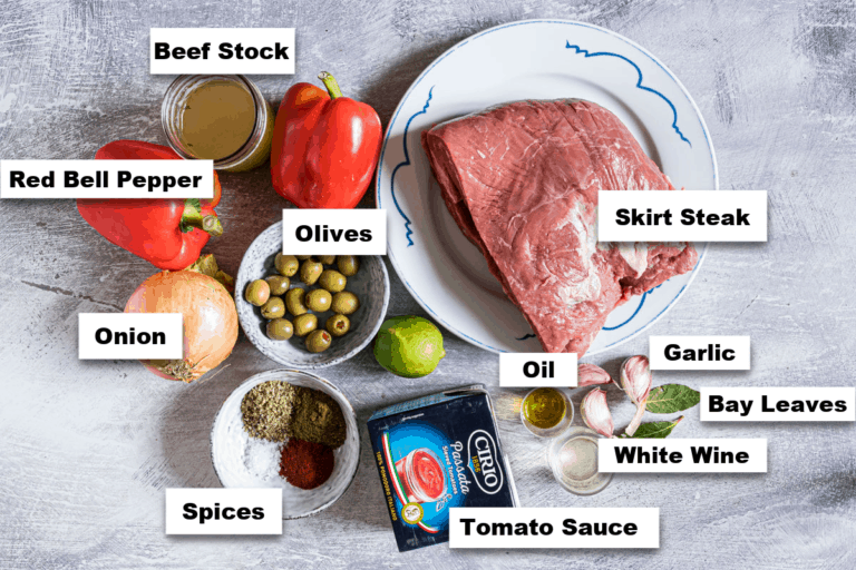 the ingredients needed for making this instant pot ropa vieja recipe