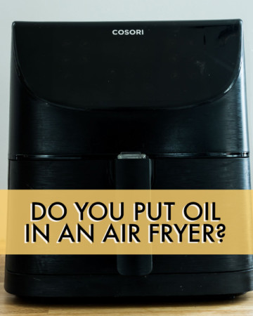 FRONT VIEW OF AN AIR FRYER