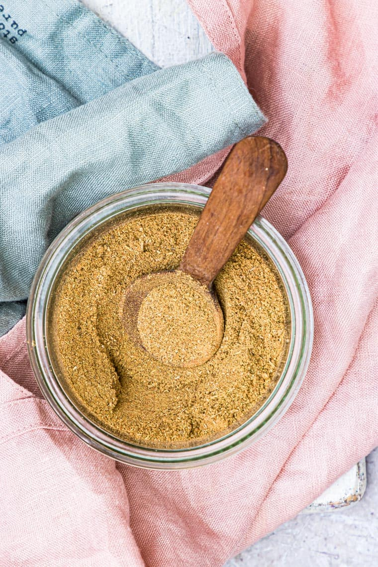 Homemade Poultry Seasoning in a jar