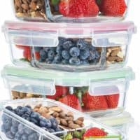 Glass Meal Prep Containers 3 Compartment Super Bundle