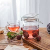 Glass Kitchen Storage Canister Airtight Mason Jars with Lids {6 Pieces}