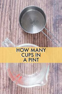 CONVERT CUPS TO PINTS