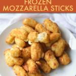 FRIED MOZZARELLA STICKS ON A PLATE