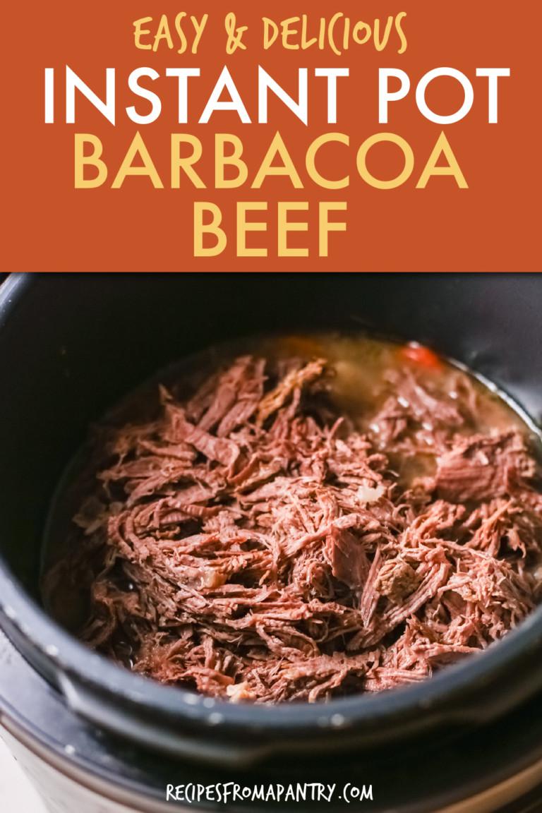 BARBACOA BEEF IN AN INSTANT POT