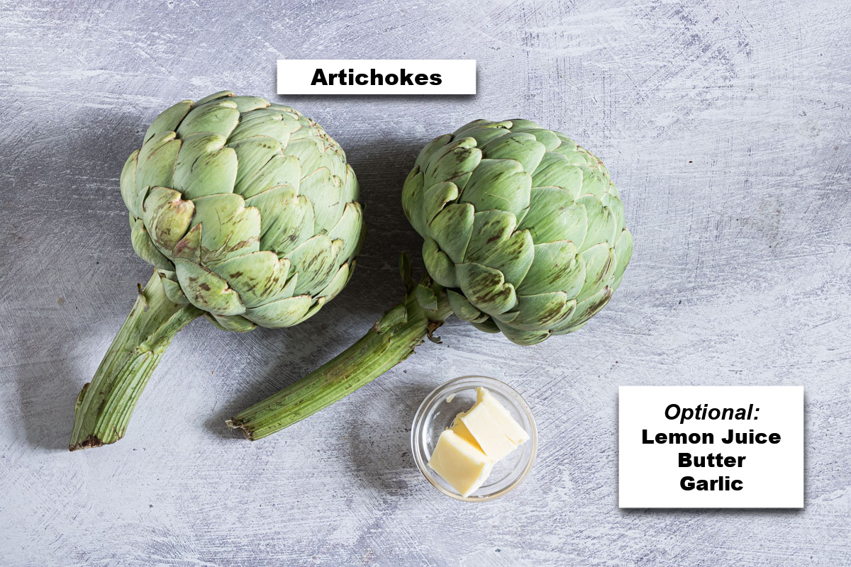 the ingredients needed to learn how to cook artichokes
