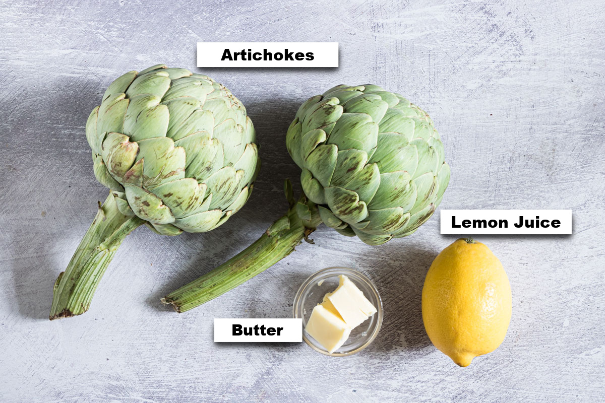 the ingredients for making instant pot artichokes