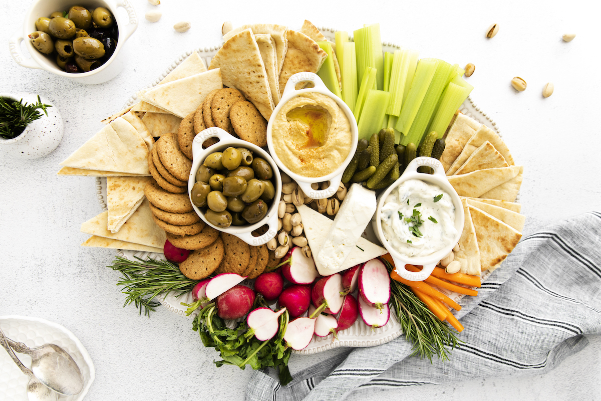 the finished version of this mezze recipes ready to serve