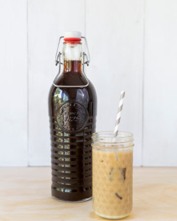The completed Instant Pot Vietnamese Iced Coffee