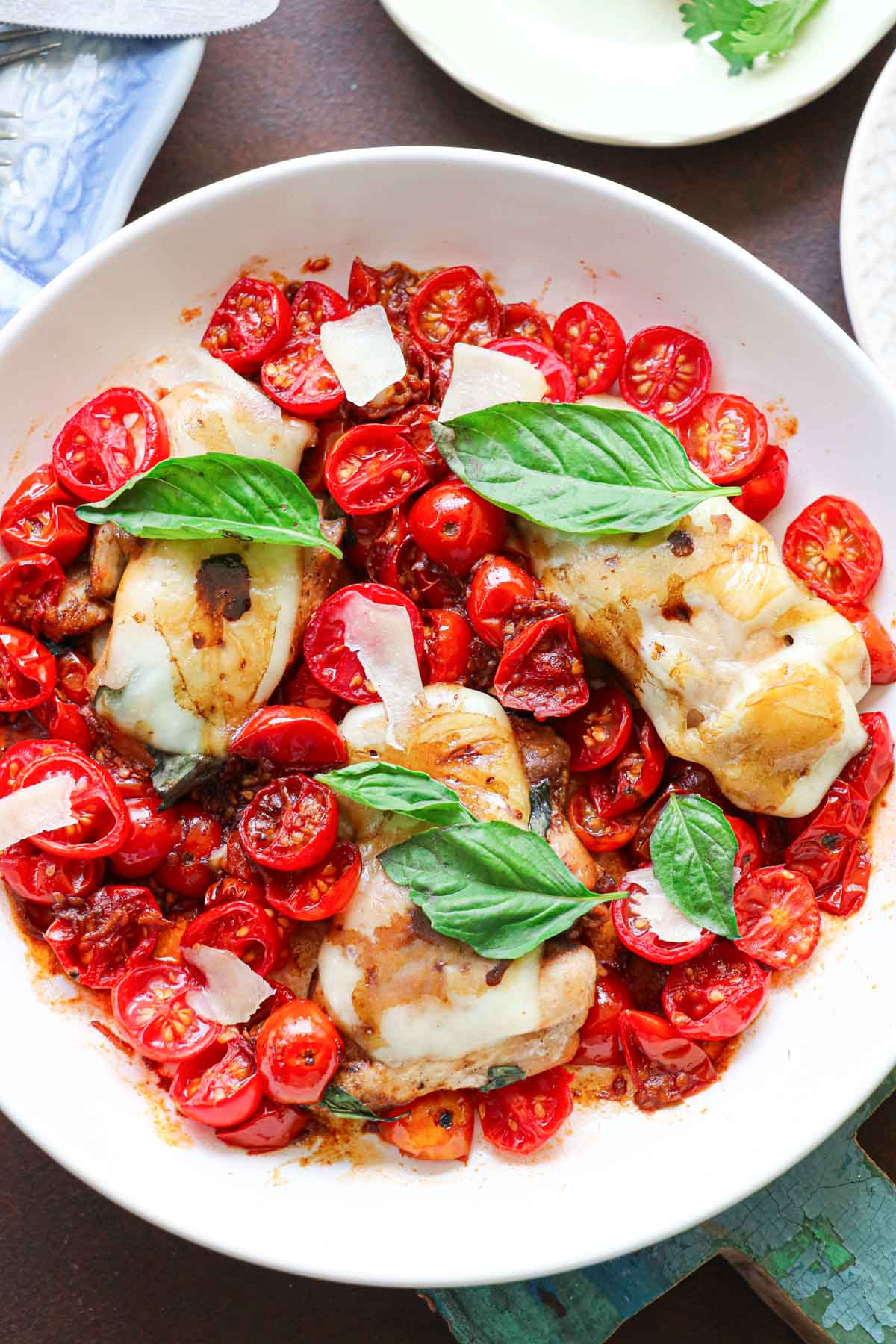 the completed caprese chicken recipe