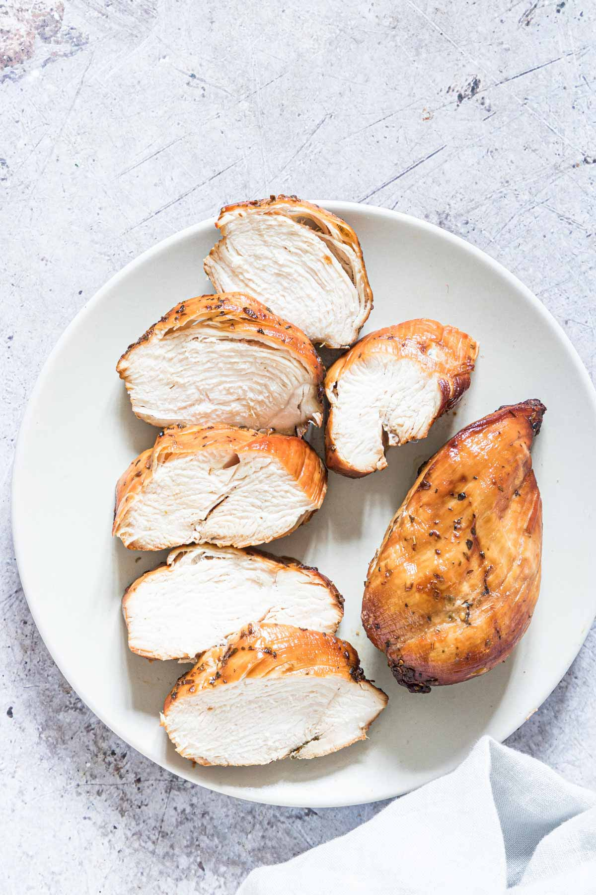 the finished air fryer frozen chicken breast recipe