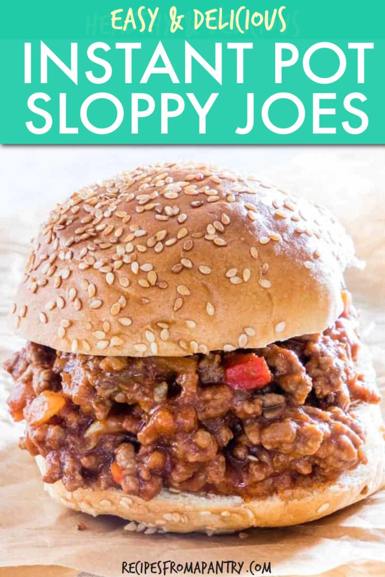 sloppy joe on a sesame seed bun