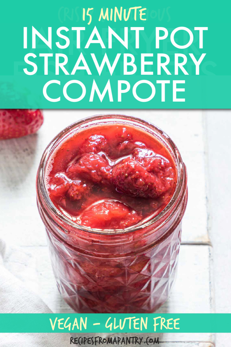 strawberry compote in a glass jar