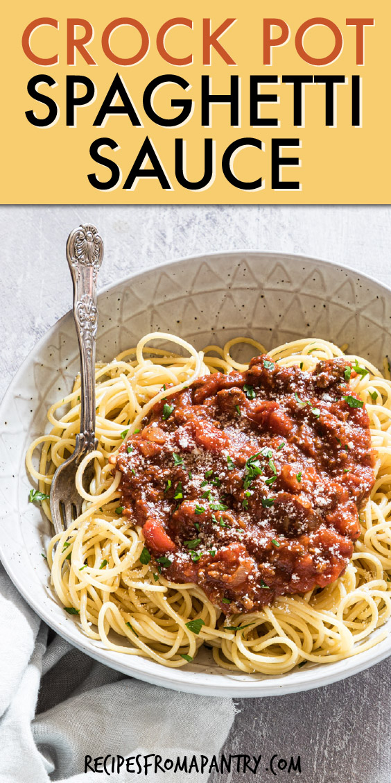 A round bowl of spaghetti with sauce on top