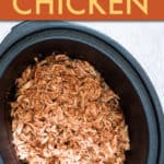 SHREDDED SALSA CHICKEN IN A CROCK POT