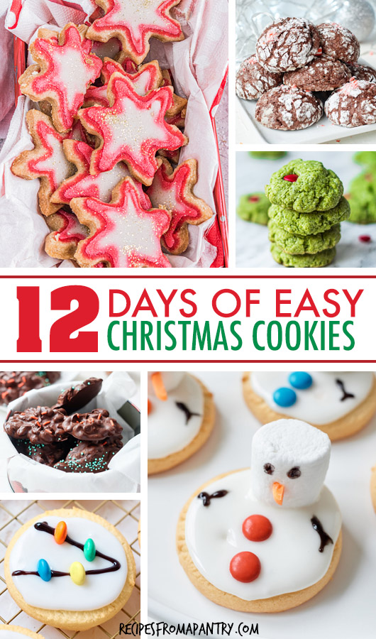 collage of various christmas cookies