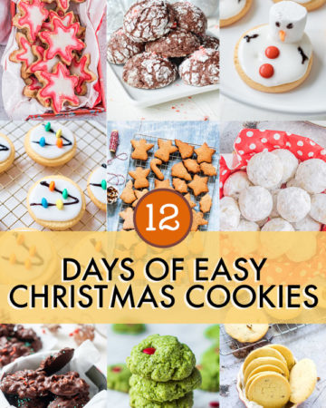 collage of 12 christmas cookie recipes