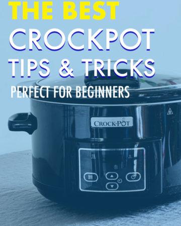 a close up of a crock pot