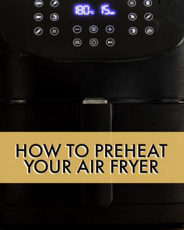 CLOSE UP OF AN AIR FRYER