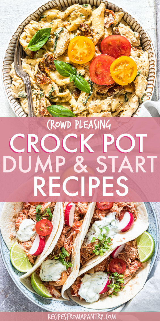 DISHES WITH CROCK POT CHICKEN AND FAJITAS