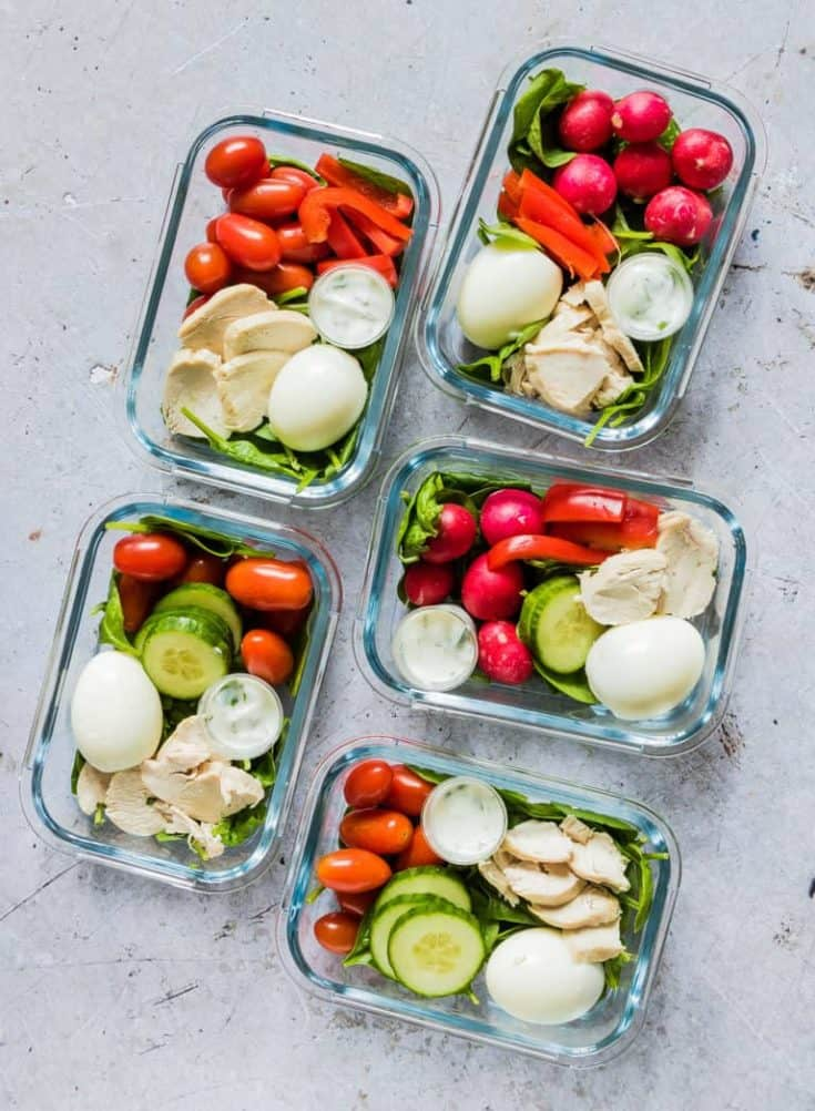 Healthy Chicken Meal Prep Bowls - Zero Freestyle Points {Low Carb, Keto, Gluten-Free}