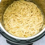 Instant Pot Cheesy Garlic Butter Spaghetti {Dump and Start, Vegetarian}
