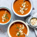 Creamy Instant Pot Tomato Soup + Stovetop version {Gluten Free, Vegan, Low Carb, Keto, Paleo, Whole 30}