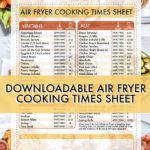 Air Fryer Cooking Times Cheat Sheet