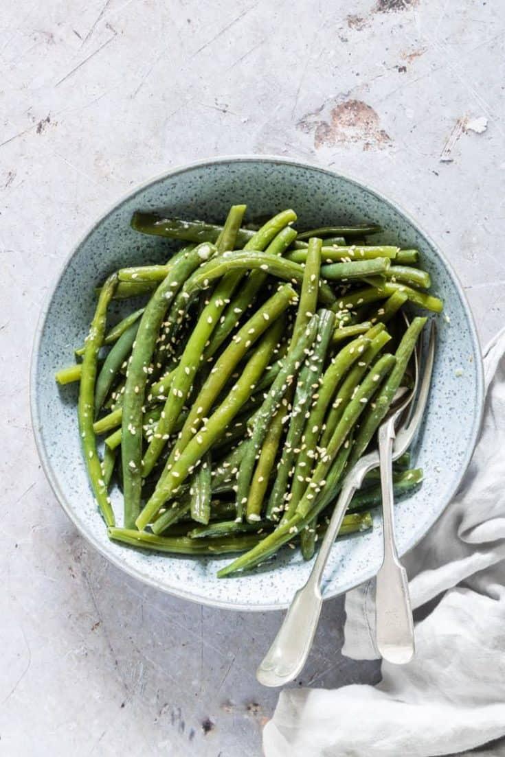 Garlic Butter Sesame Instant Pot Green Beans {Low Carb, Gluten Free}
