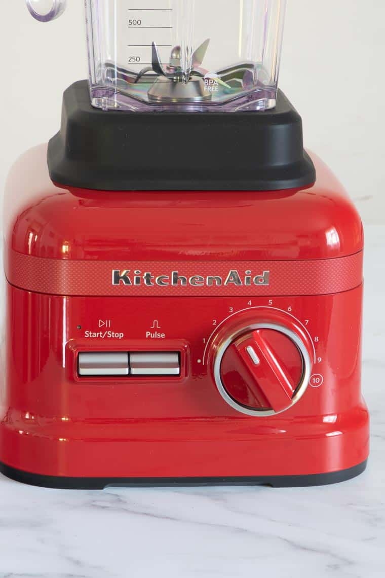 close up of kitchenaid blender