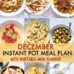 December Instant Pot Meal Plan