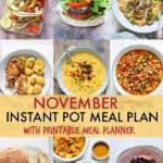 November Instant Pot Meal Plan