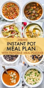 JANUARY INSTANT POT MEAL PLAN